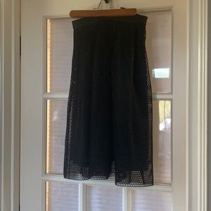 High waisted midi mesh skirt